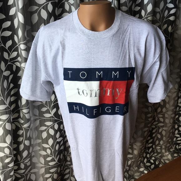 3431bd66 Tommy Hilfiger Shirts | Vintage Tshirt Flag Logo Usa Made | Poshmark